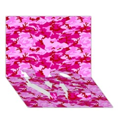 CAMO PINK LOVE Bottom 3D Greeting Card (7x5)