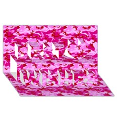 CAMO PINK Best Wish 3D Greeting Card (8x4)