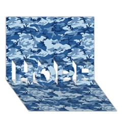 CAMO NAVY HOPE 3D Greeting Card (7x5)