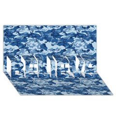 Camo Navy Believe 3d Greeting Card (8x4)