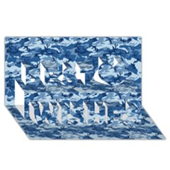 CAMO NAVY Best Wish 3D Greeting Card (8x4)
