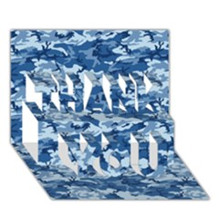 CAMO NAVY THANK YOU 3D Greeting Card (7x5)