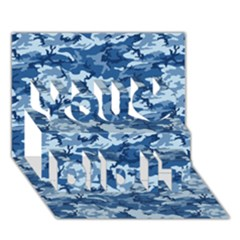 Camo Navy You Did It 3d Greeting Card (7x5)