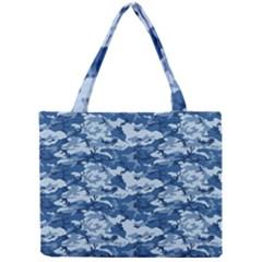 CAMO NAVY Tiny Tote Bags