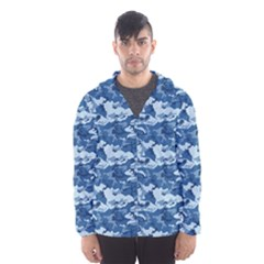 CAMO NAVY Hooded Wind Breaker (Men)
