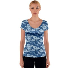 Women s V-Neck Cap Sleeve Top