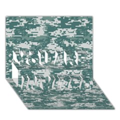 Camo Digital Urban You Are Invited 3d Greeting Card (7x5)