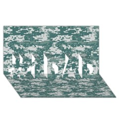Camo Digital Urban #1 Dad 3d Greeting Card (8x4)