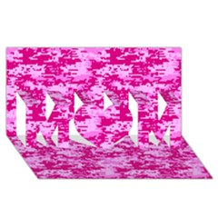 CAMO DIGITAL PINK MOM 3D Greeting Card (8x4)