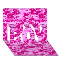 CAMO DIGITAL PINK BOY 3D Greeting Card (7x5)