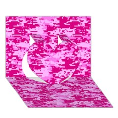 CAMO DIGITAL PINK Heart 3D Greeting Card (7x5)