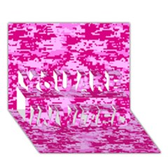CAMO DIGITAL PINK YOU ARE INVITED 3D Greeting Card (7x5)