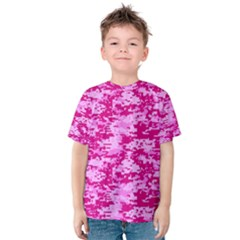 Camo Digital Pink Kid s Cotton Tee