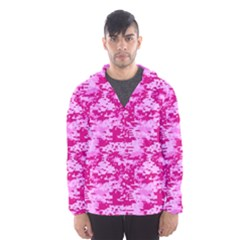 Camo Digital Pink Hooded Wind Breaker (men)