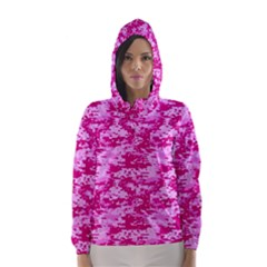Camo Digital Pink Hooded Wind Breaker (women)