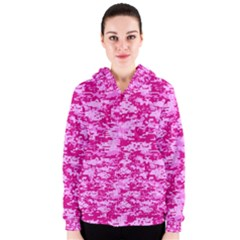 CAMO DIGITAL PINK Women s Zipper Hoodies