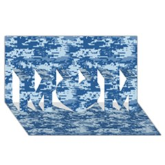 Camo Digital Navy Mom 3d Greeting Card (8x4)