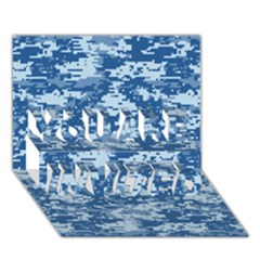 Camo Digital Navy You Are Invited 3d Greeting Card (7x5)