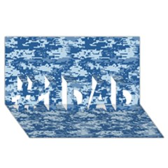 Camo Digital Navy #1 Dad 3d Greeting Card (8x4)