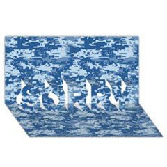 Camo Digital Navy Sorry 3d Greeting Card (8x4)