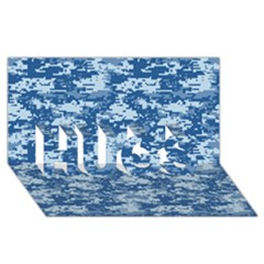 Camo Digital Navy Hugs 3d Greeting Card (8x4)