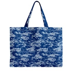 CAMO DIGITAL NAVY Zipper Tiny Tote Bags