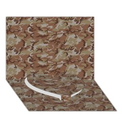 CAMO DESERT Heart Bottom 3D Greeting Card (7x5)