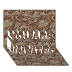 Camo Desert You Are Invited 3d Greeting Card (7x5)