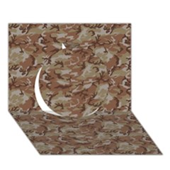 Camo Desert Circle 3d Greeting Card (7x5)