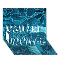 Blue Patchwork You Are Invited 3d Greeting Card (7x5)