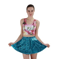 BLUE PATCHWORK Mini Skirts