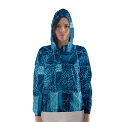 BLUE PATCHWORK Hooded Wind Breaker (Women)