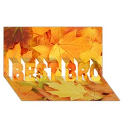 YELLOW MAPLE LEAVES BEST BRO 3D Greeting Card (8x4)