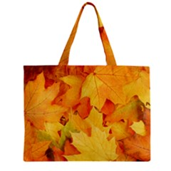 YELLOW MAPLE LEAVES Zipper Tiny Tote Bags