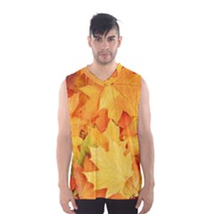 YELLOW MAPLE LEAVES Men s Basketball Tank Top