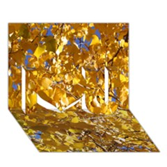 Yellow Leaves I Love You 3d Greeting Card (7x5)