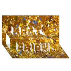 Yellow Leaves Best Friends 3d Greeting Card (8x4)
