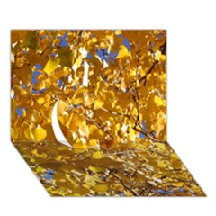Yellow Leaves Apple 3d Greeting Card (7x5)
