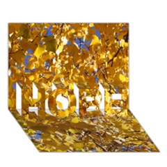 YELLOW LEAVES HOPE 3D Greeting Card (7x5)
