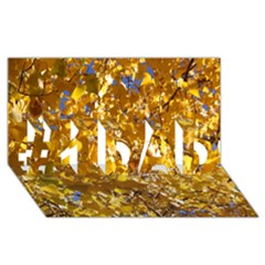 Yellow Leaves #1 Dad 3d Greeting Card (8x4)