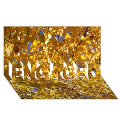 Yellow Leaves Engaged 3d Greeting Card (8x4)