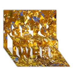 YELLOW LEAVES Get Well 3D Greeting Card (7x5)