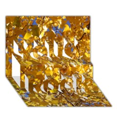 Yellow Leaves You Rock 3d Greeting Card (7x5)