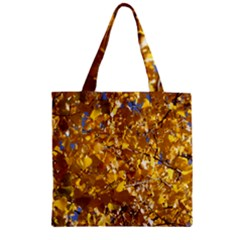 YELLOW LEAVES Zipper Grocery Tote Bags