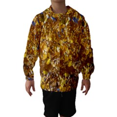 YELLOW LEAVES Hooded Wind Breaker (Kids)