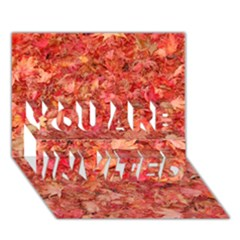 RED MAPLE LEAVES YOU ARE INVITED 3D Greeting Card (7x5)