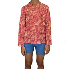 RED MAPLE LEAVES Kid s Long Sleeve Swimwear