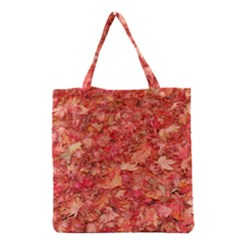 RED MAPLE LEAVES Grocery Tote Bags