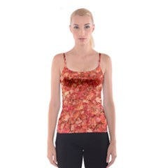 RED MAPLE LEAVES Spaghetti Strap Tops