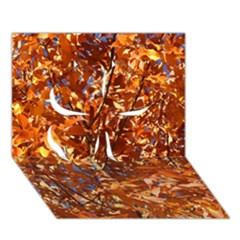ORANGE LEAVES Clover 3D Greeting Card (7x5)